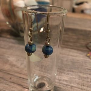 BOGO Blue and green earrings